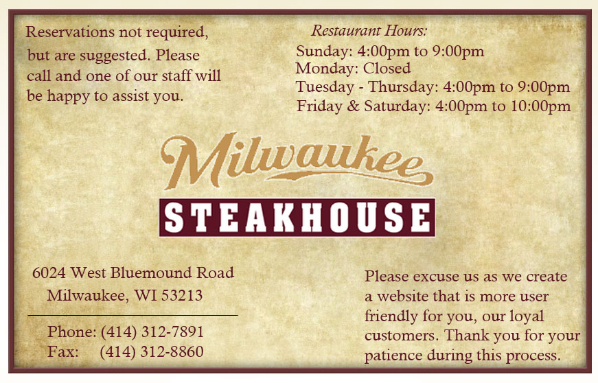 The Milwaukee Steakhouse